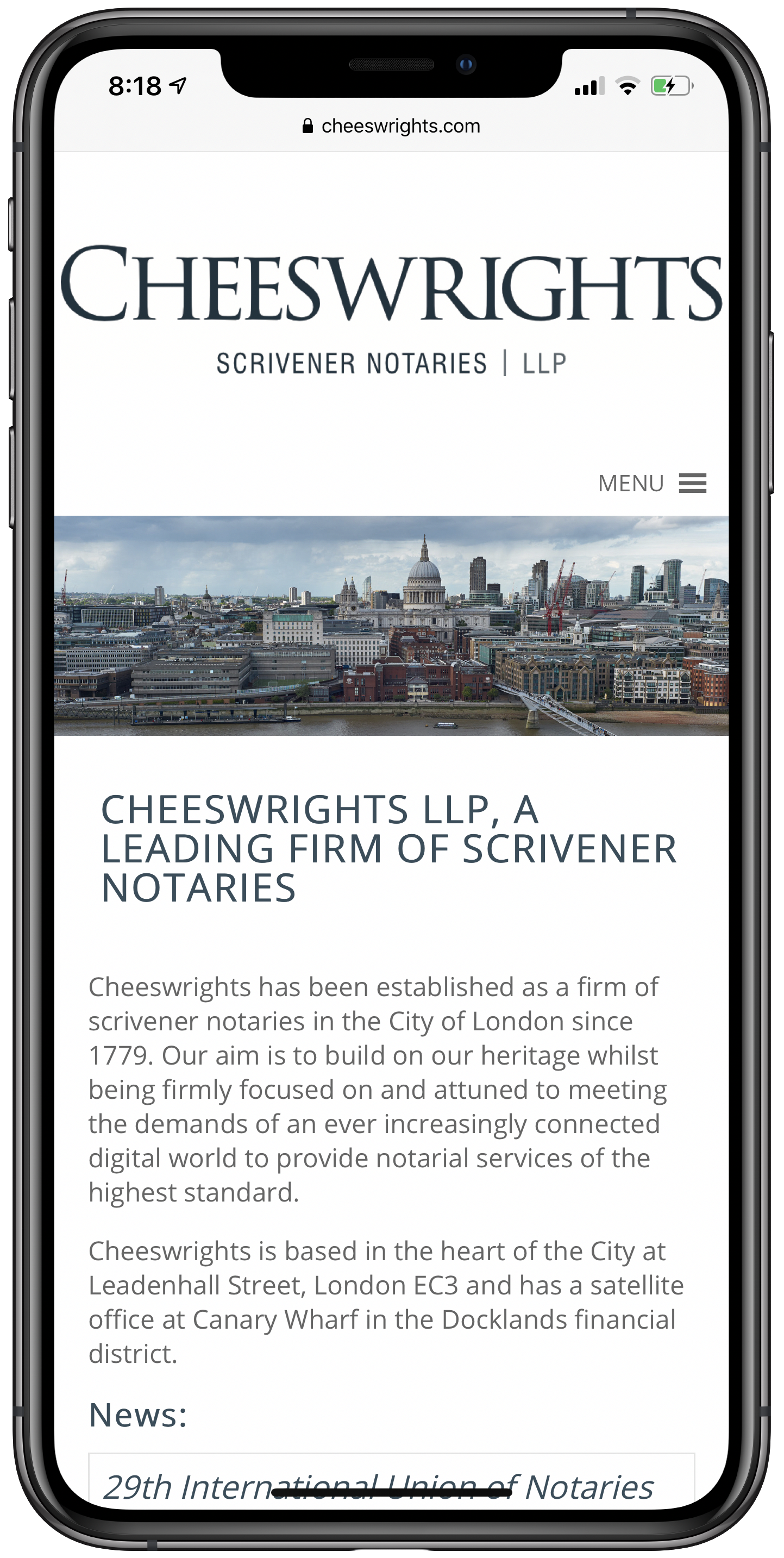 Cheeswrights Mobile Screenshot