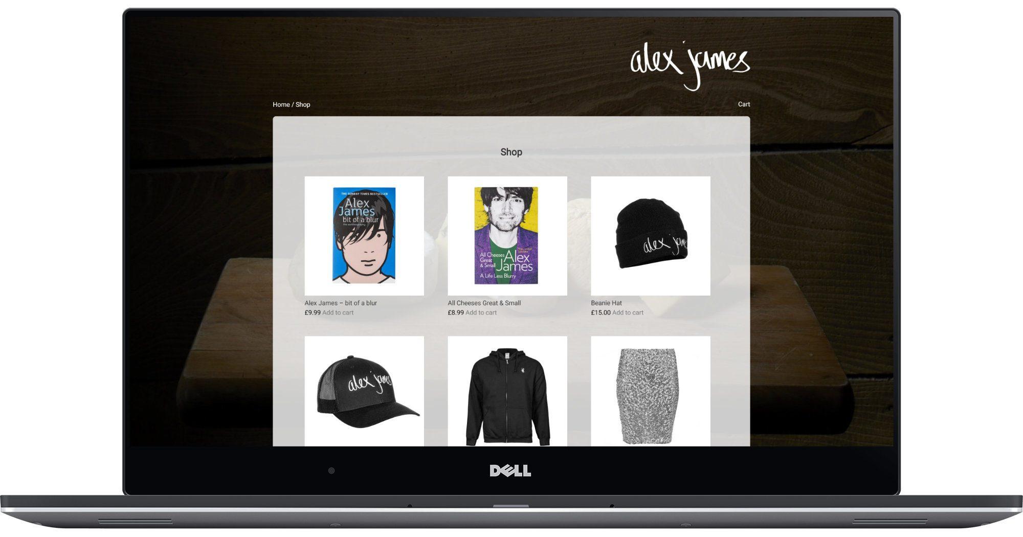 Alex James Laptop Screenshot