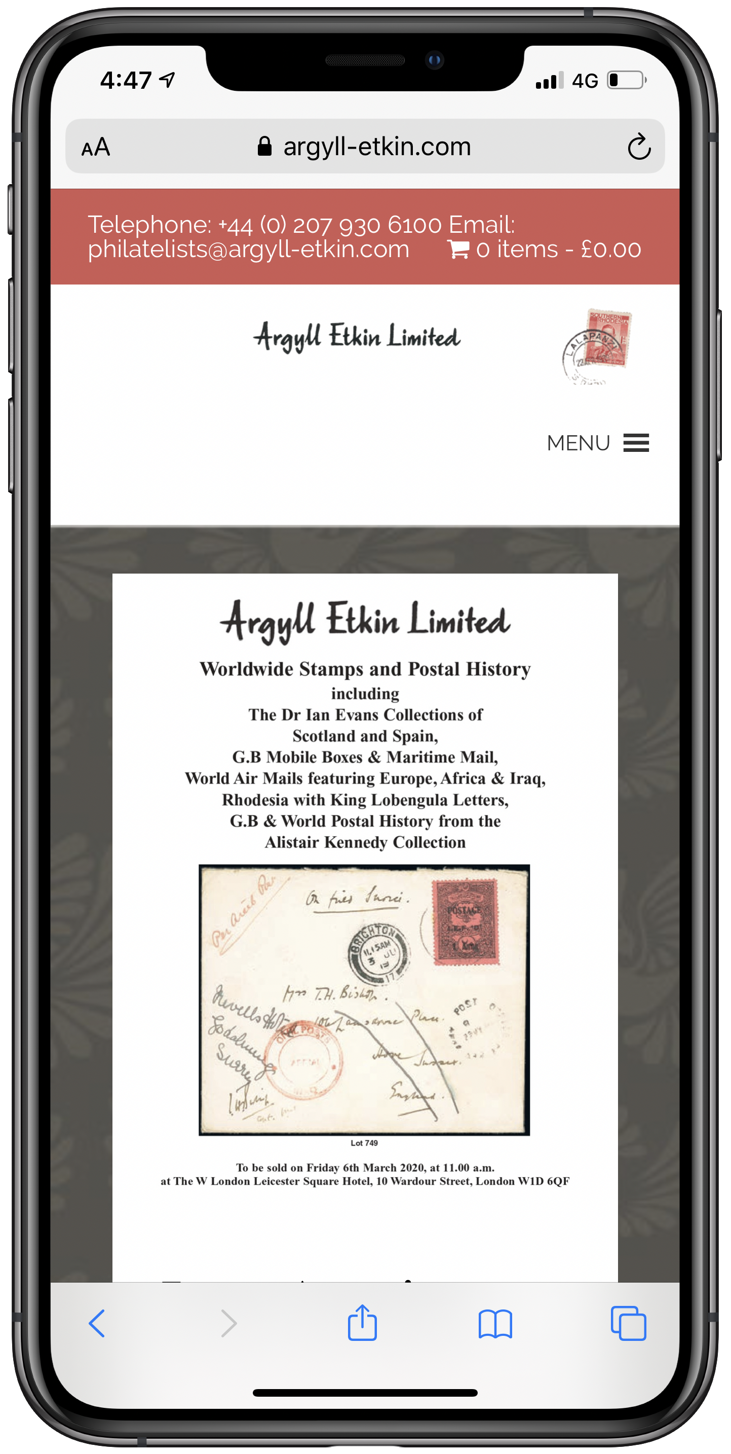 Argyll Etkin Mobile Screenshot