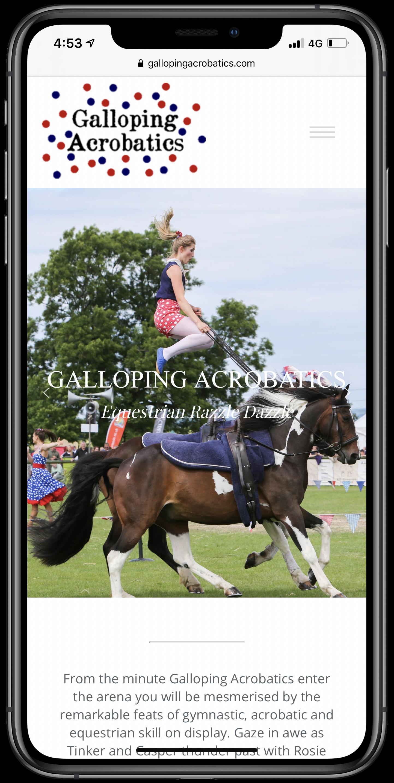 Galloping Acrobatics Mobile Screenshot