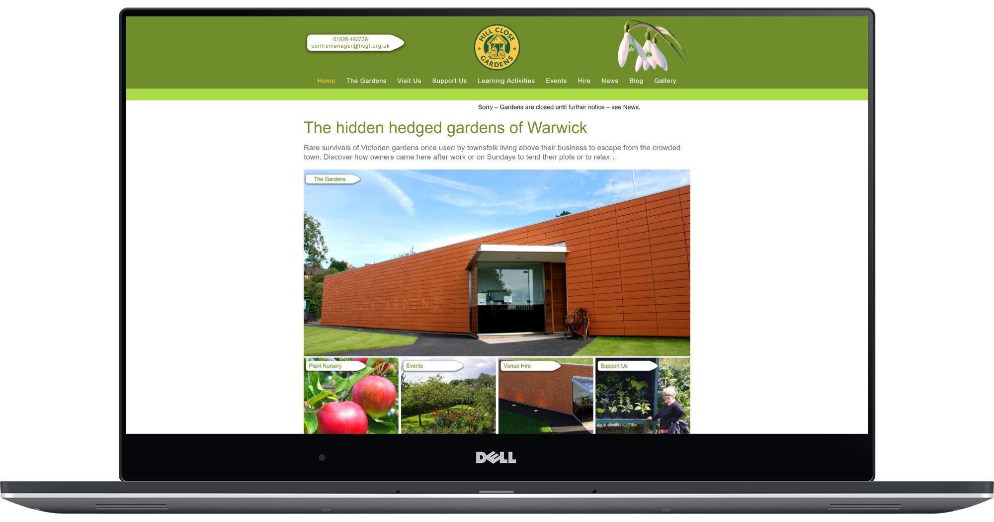 Hill Close Gardens Laptop Screenshot