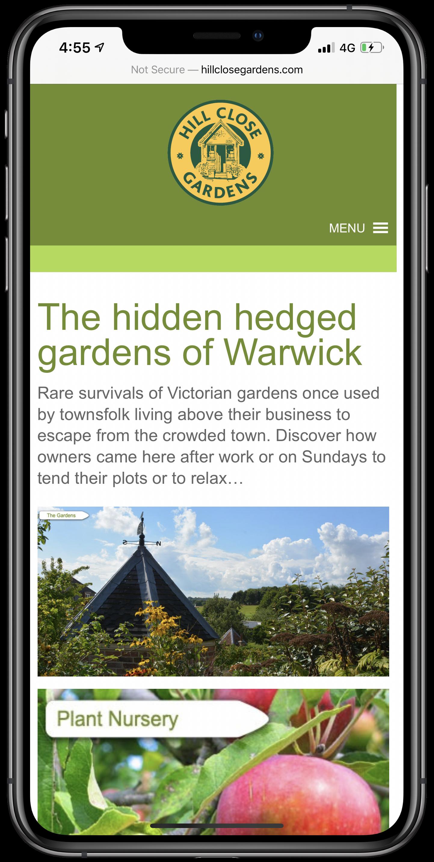Hill Close Gardens Mobile Screenshot