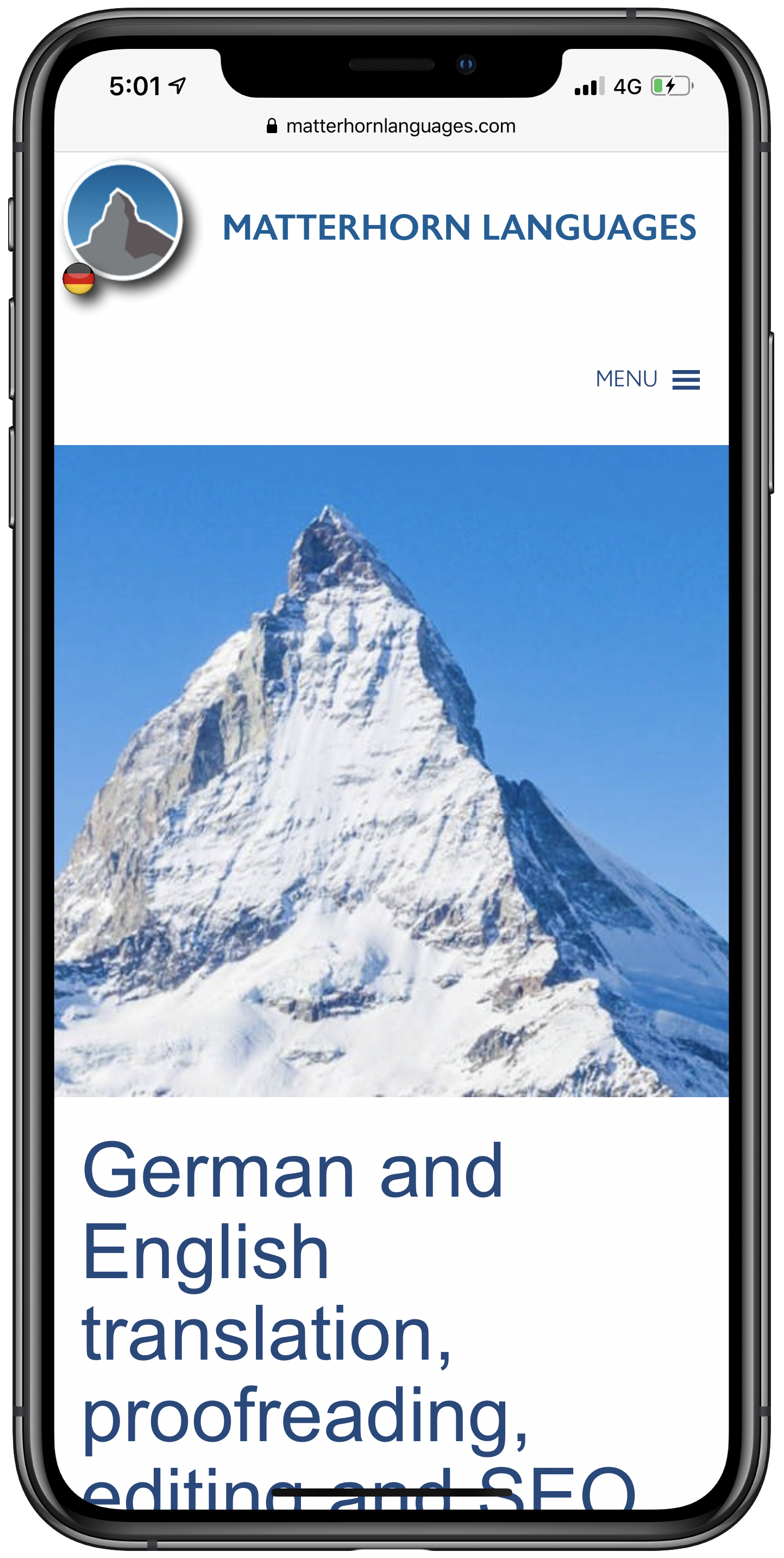 Matterhorn Languages Mobile Screenshot