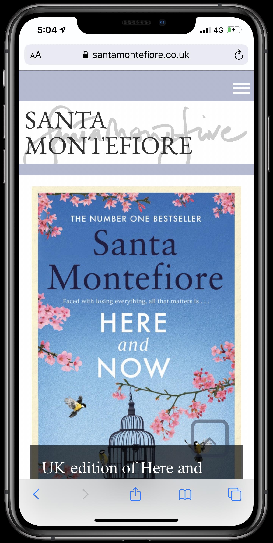 Santa Montefiore Mobile Screenshot