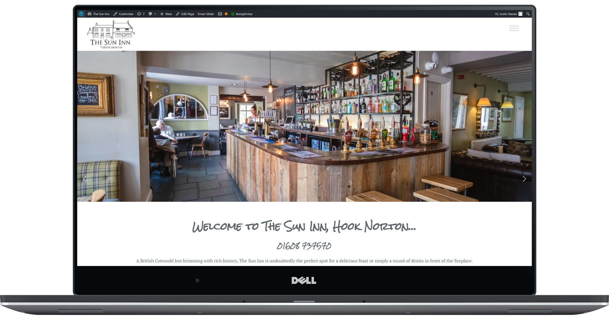 The Sun Inn Hook Norton Laptop Screenshot