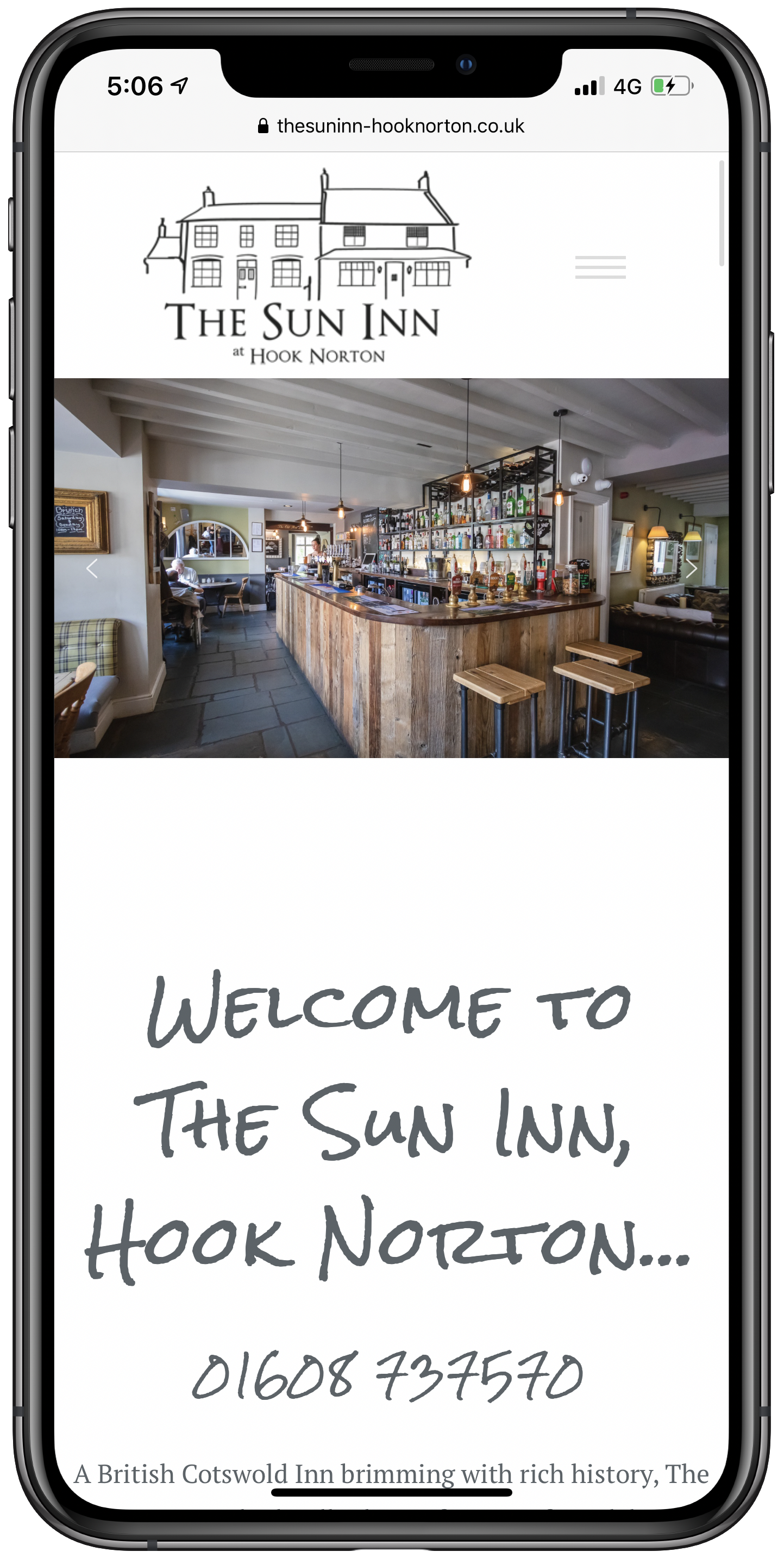 The Sun Inn Hook Norton Mobile Screenshot