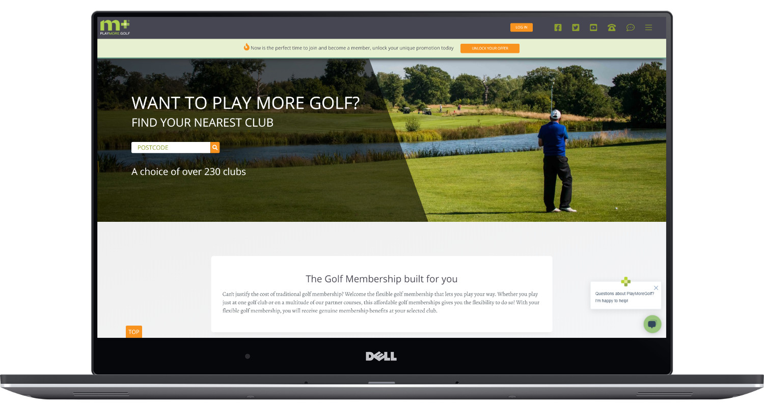 Play More Golf Laptop Screenshot