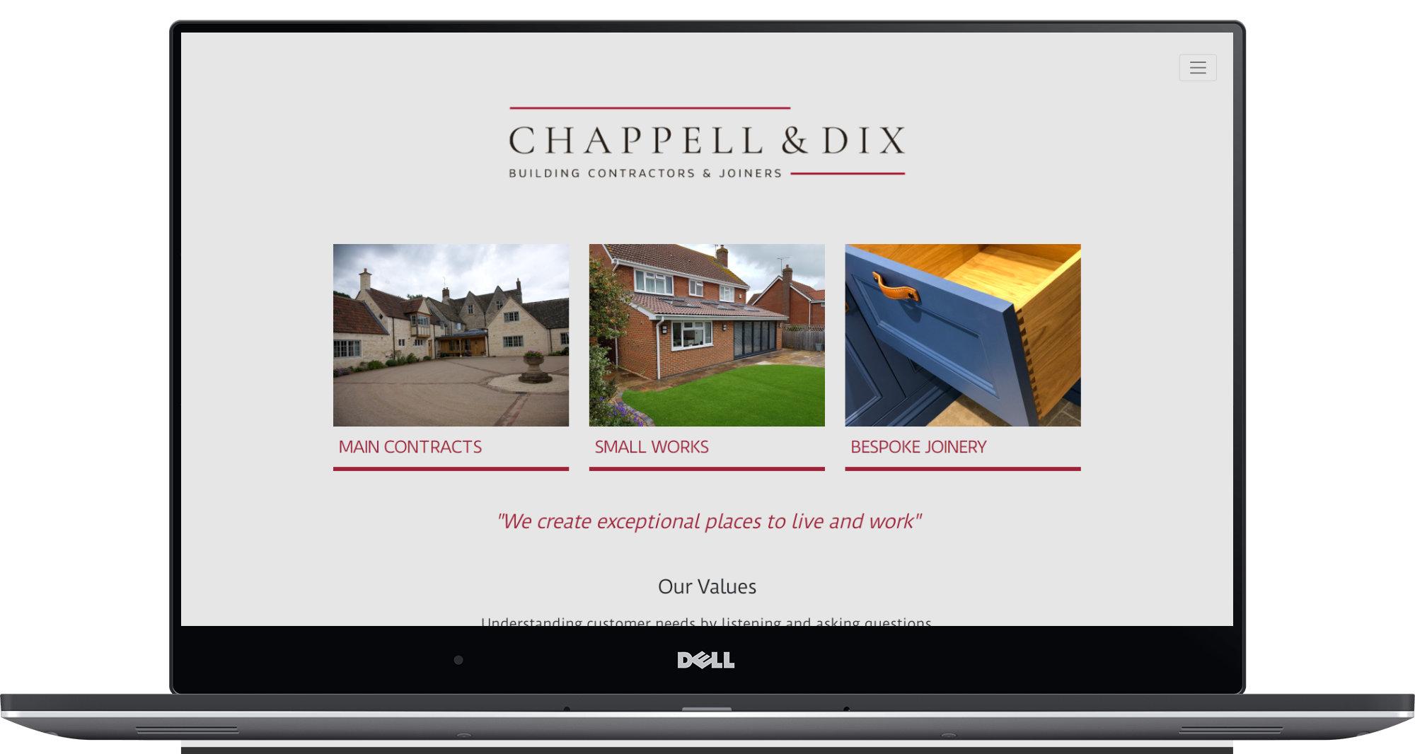 Chappell & Dix Laptop Screenshot