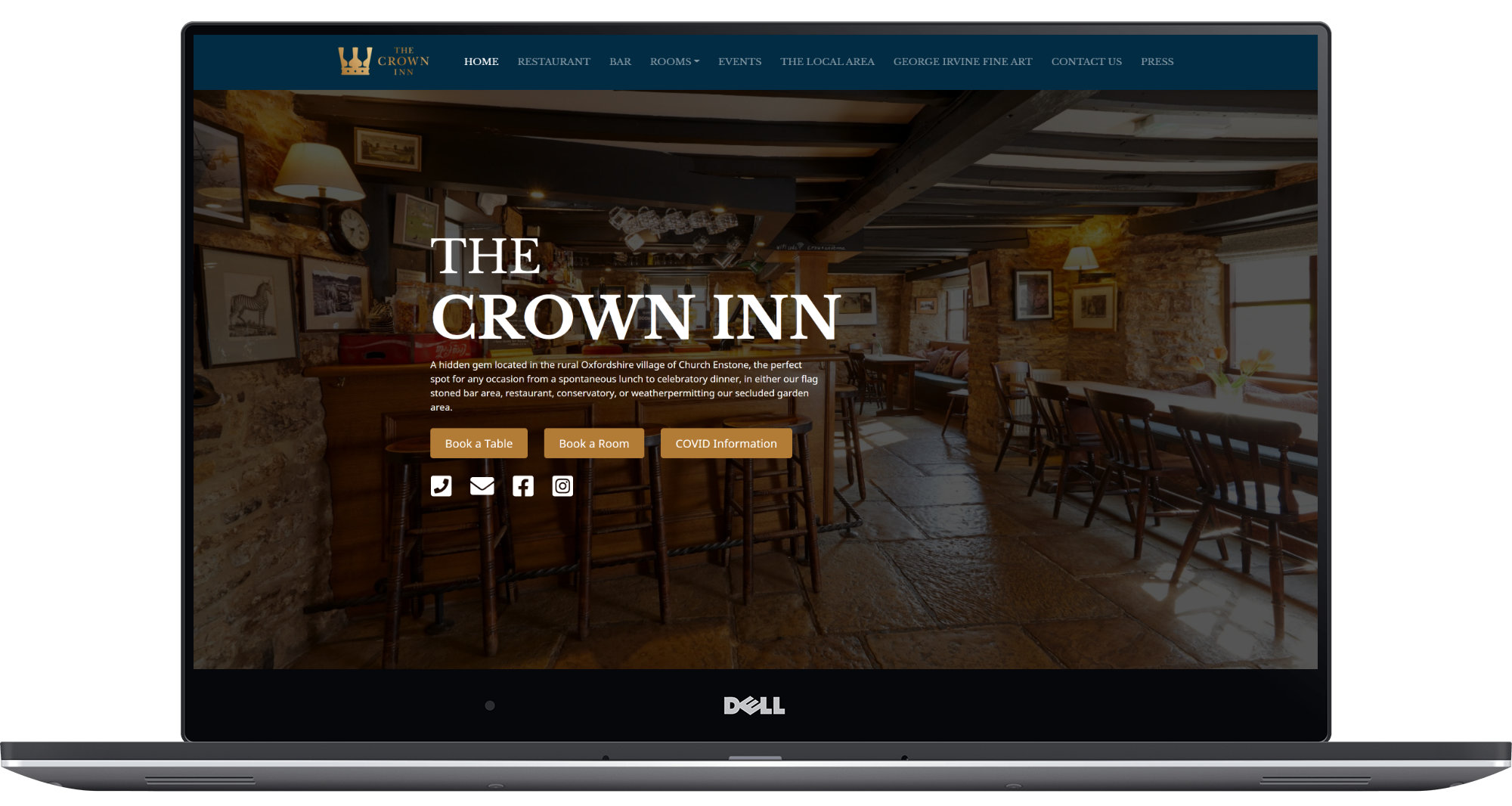 Crown Inn Enstone Laptop Screenshot