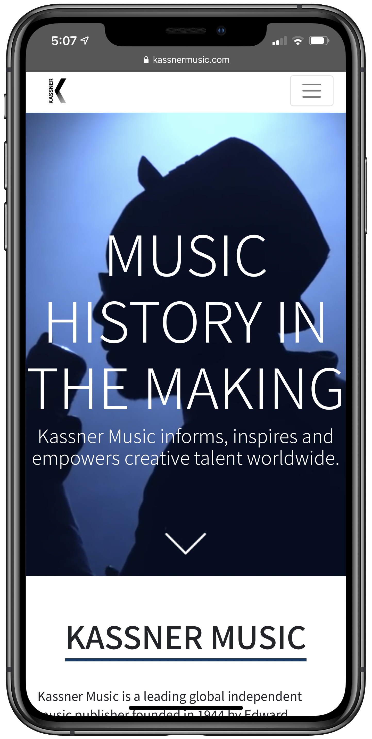 Kassner Music Mobile Screenshot