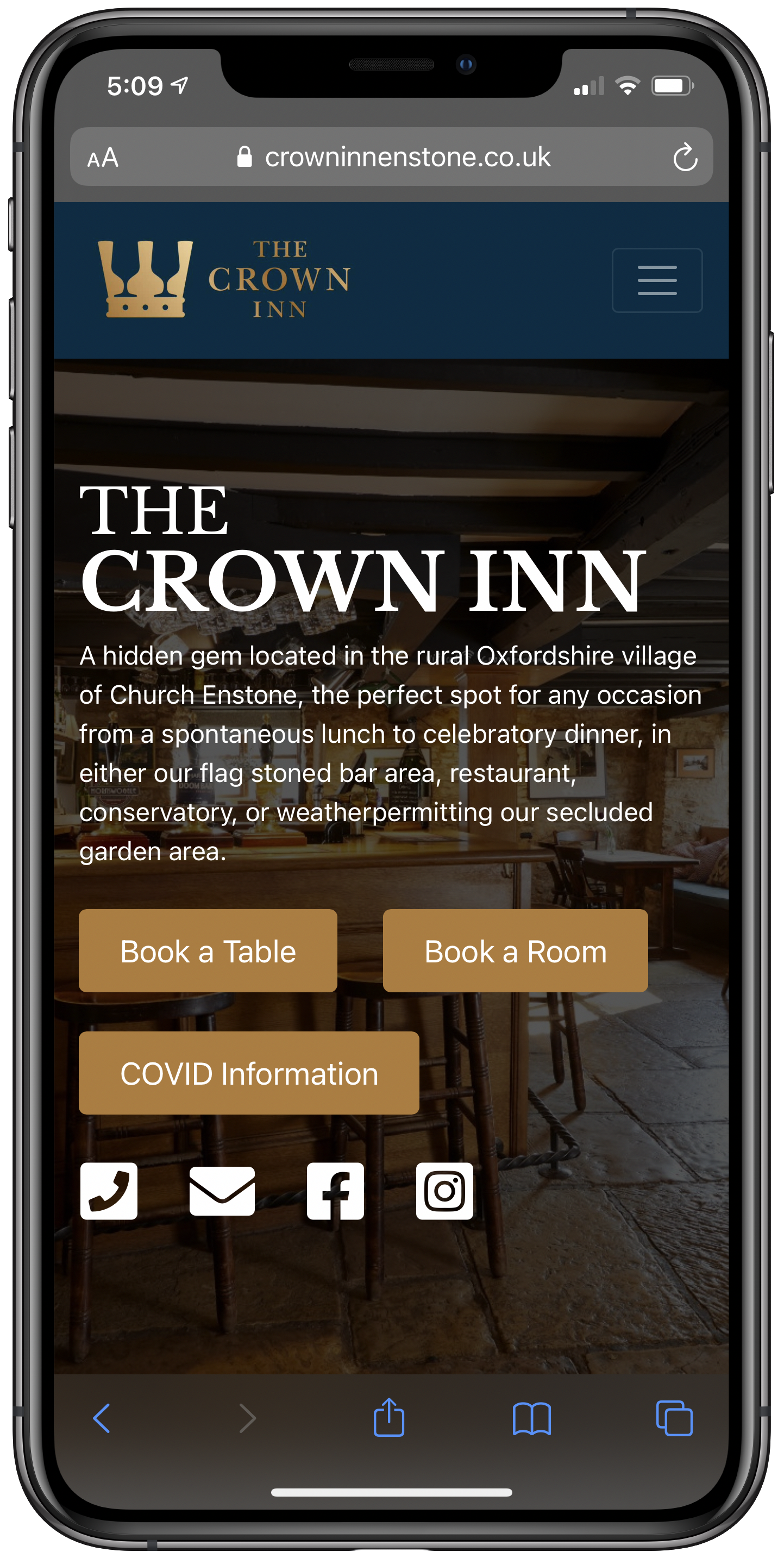 Crown Inn Enstone Mobile Screenshot