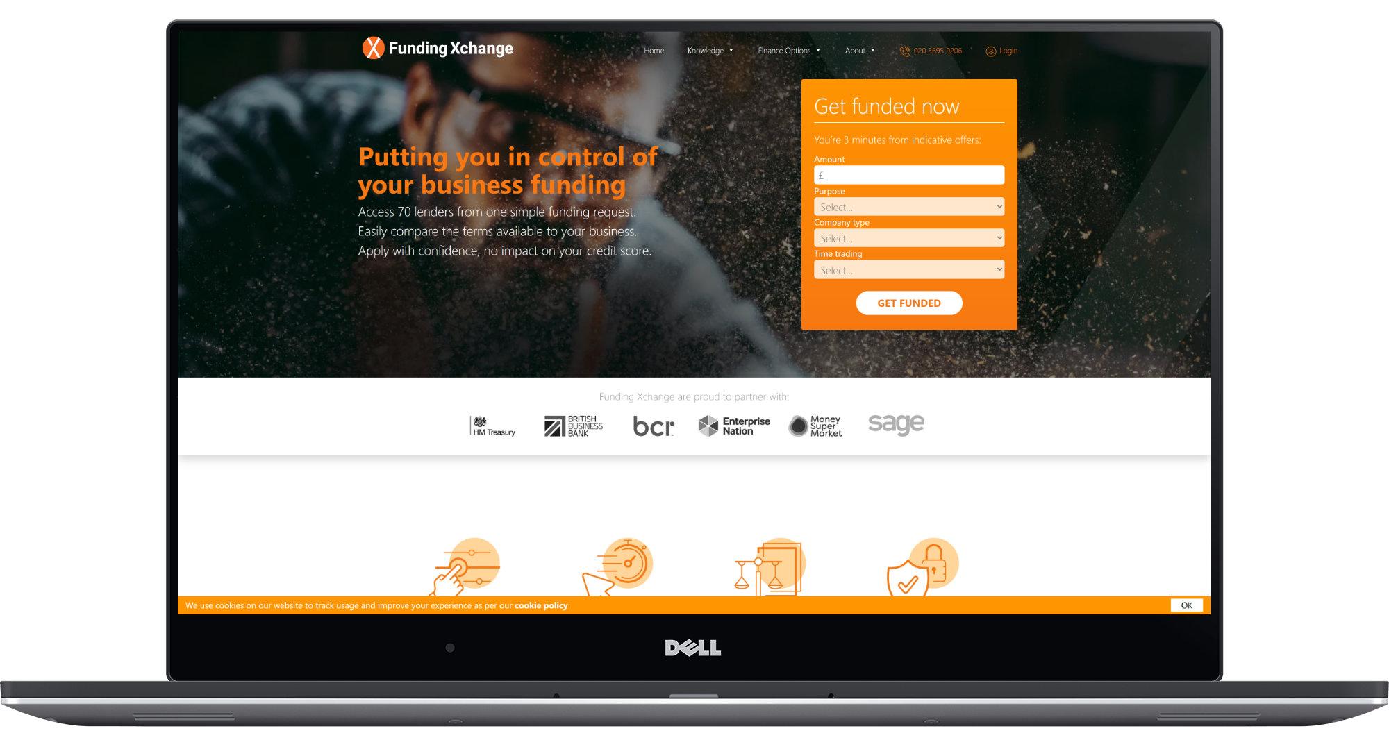 Funding Xchange Laptop Screenshot