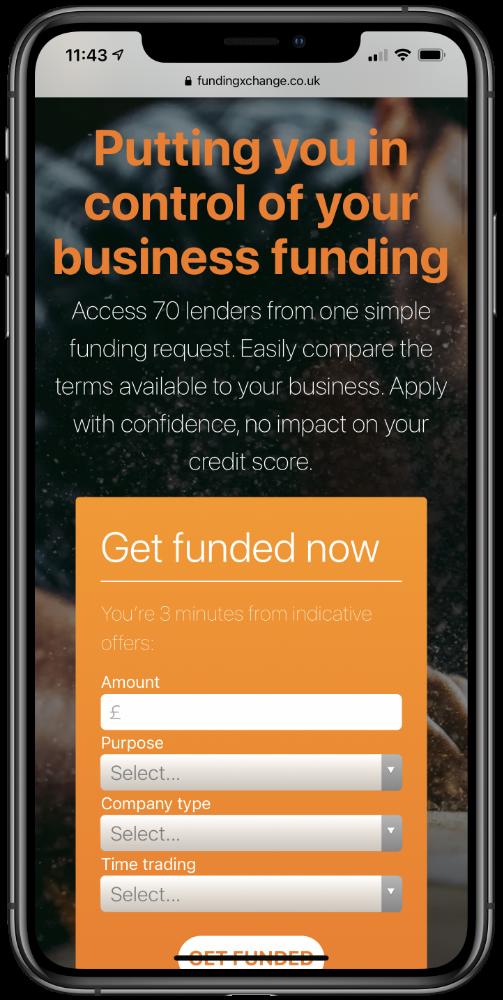 Funding Xchange Mobile Screenshot