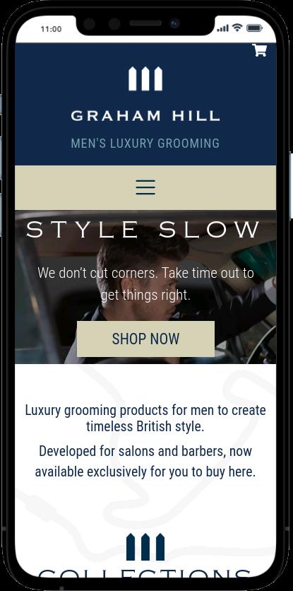 Graham Hill Cosmetics Mobile Screenshot